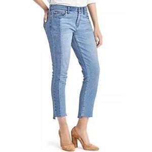 GAP two tone cropped jeans